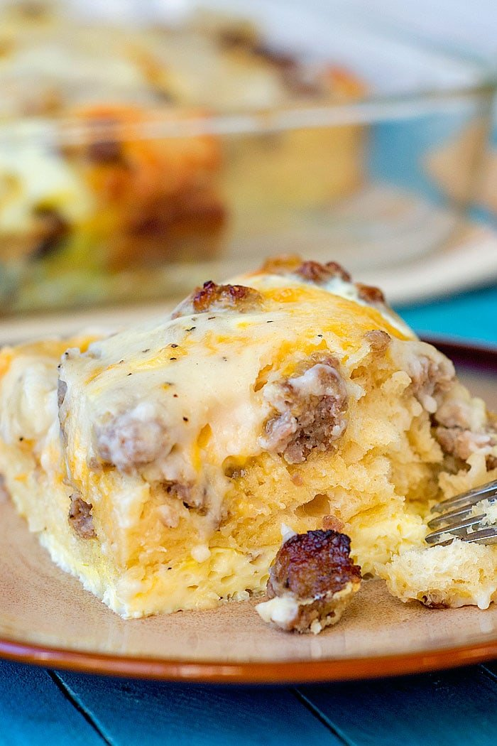 Biscuits and Gravy Egg Casserole