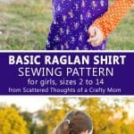 Easy Raglan shirt sewing pattern, free download