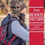 Free Beanie Hat Pattern (4 sizes) This free beanie pattern is the perfect sewing project for beginners, stocking stuffers, holiday gifts and using up all your leftover fleece!