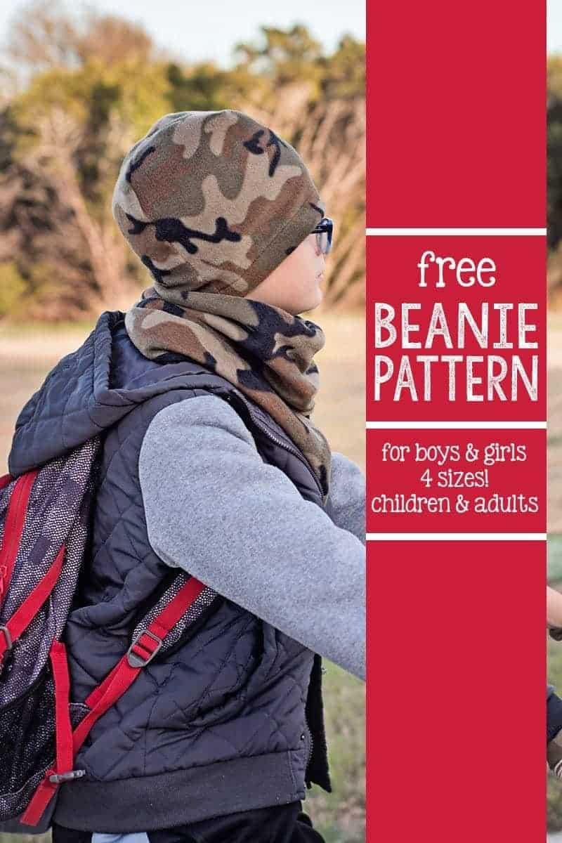 Free Beanie Hat Pattern (4 sizes)