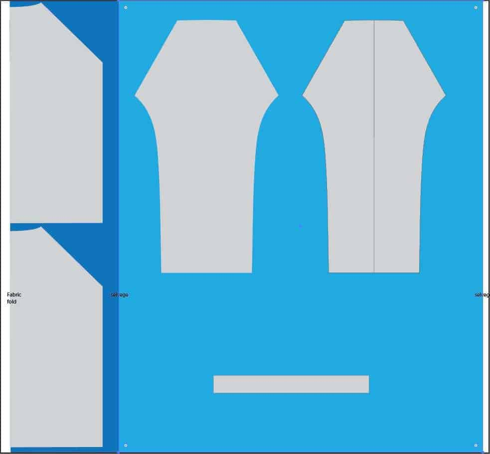 free raglan shirt pattern layout