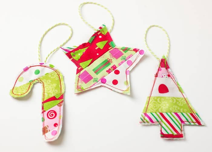 Easy Fabric Ornament Gift Toppers (w/ printable template)