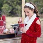 Girl's Cold Shoulder Top Tutorial + Holiday Photos