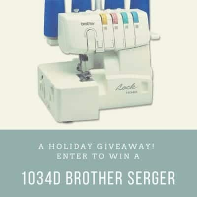 Happy Holidays! (and that time I gave away a serger to one lucky winner – again)
