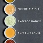 5 Easy Dipping Sauces for game day snacks