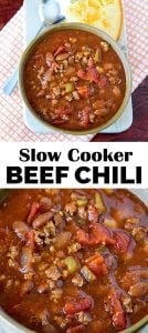 Easy Slow Cooker Beef Chili recipe