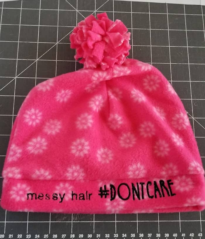 How to make an Easy Pom Pom Fleece Beanie