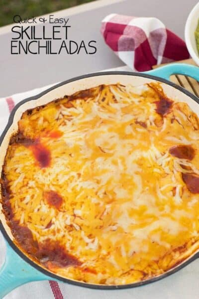 Easy Skillet Enchiladas - perfect over the campfire or stove top!