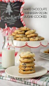 White Chocolate Cranberry Pecan Cookies w/ printable recipe card