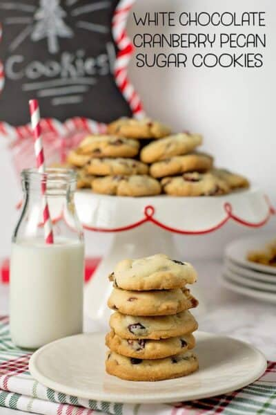 White Chocolate Cranberry Pecan Cookies w/ printable recipe card
