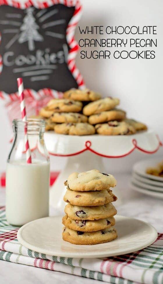 White Chocolate Cranberry Pecan Sugar Cookies w/ printable ...