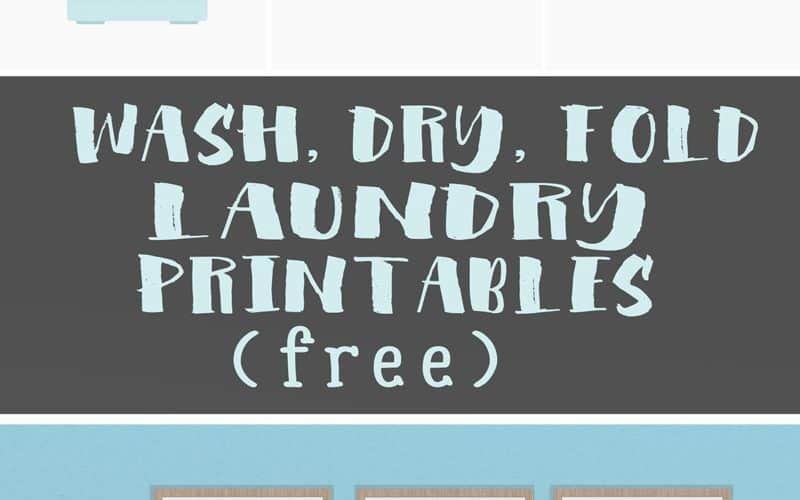 New Year, New Laundry Routine (plus a free Wash Dry Fold Printable)