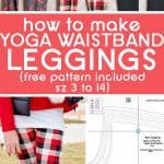 how to sew leggings, free legging pattern from Scattered Thoughts of a Crafty Mom