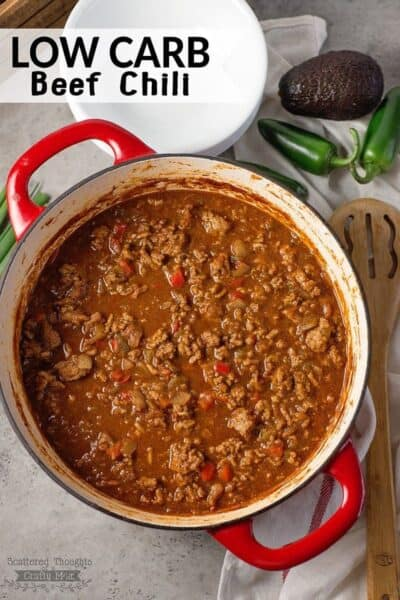 Low carb beef chili recipe