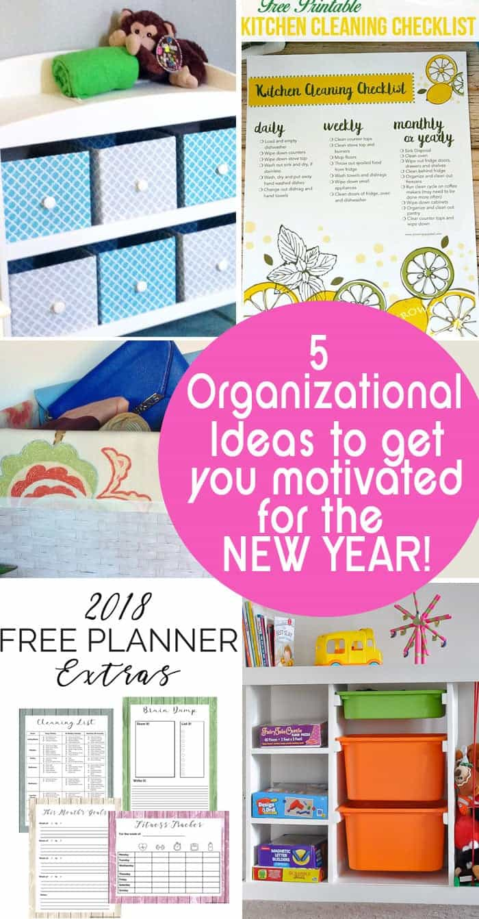 Organizational Ideas to get you motivated for the new year!