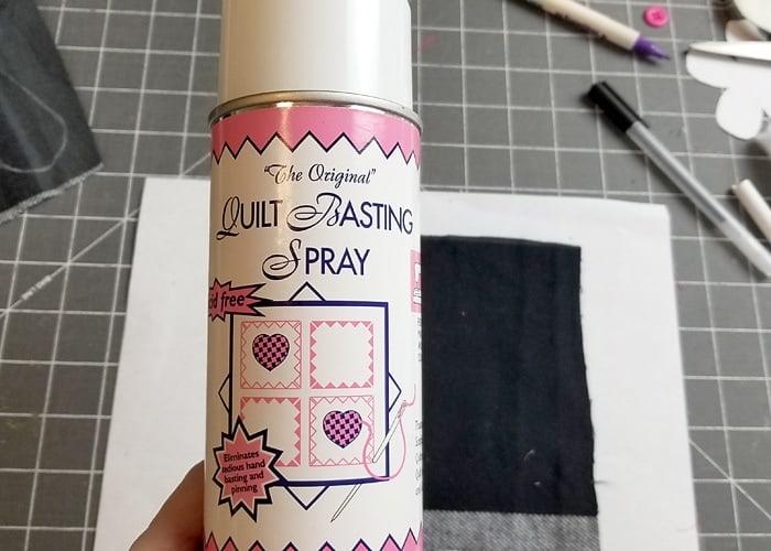 using a spray baste on the heart softies