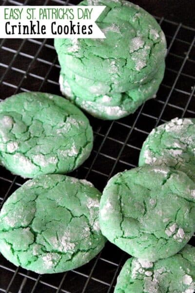 Easy St Patrick's Day Crinkle Cookie Recipe