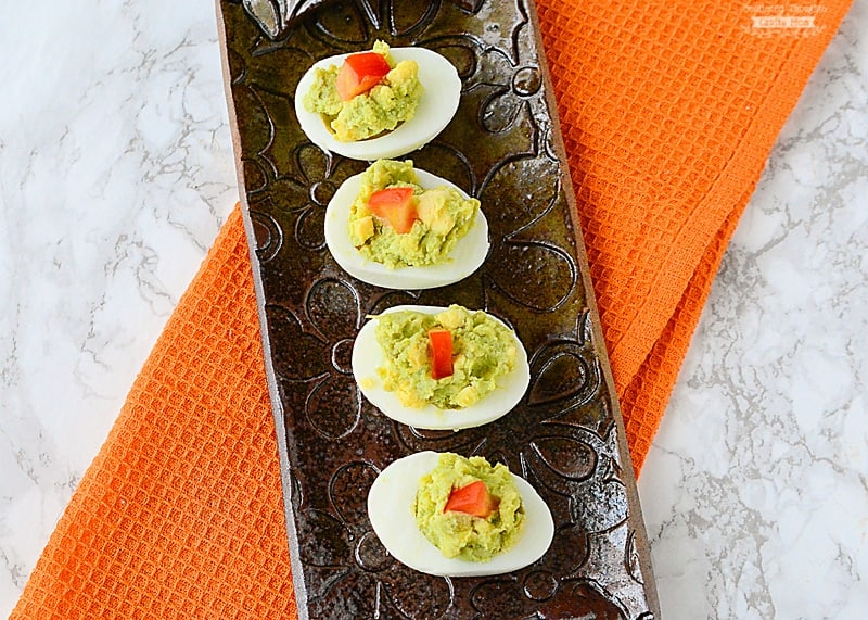 how to make guacamole deviled eggs