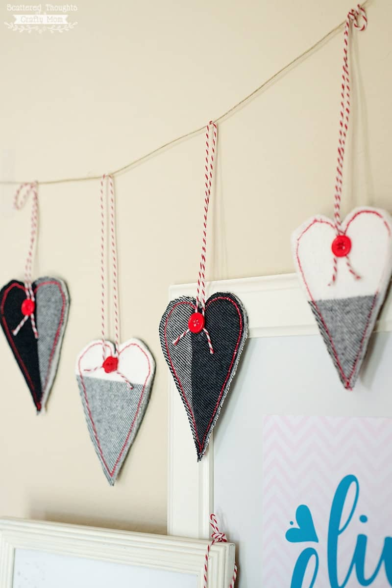 how to make a heart garland
