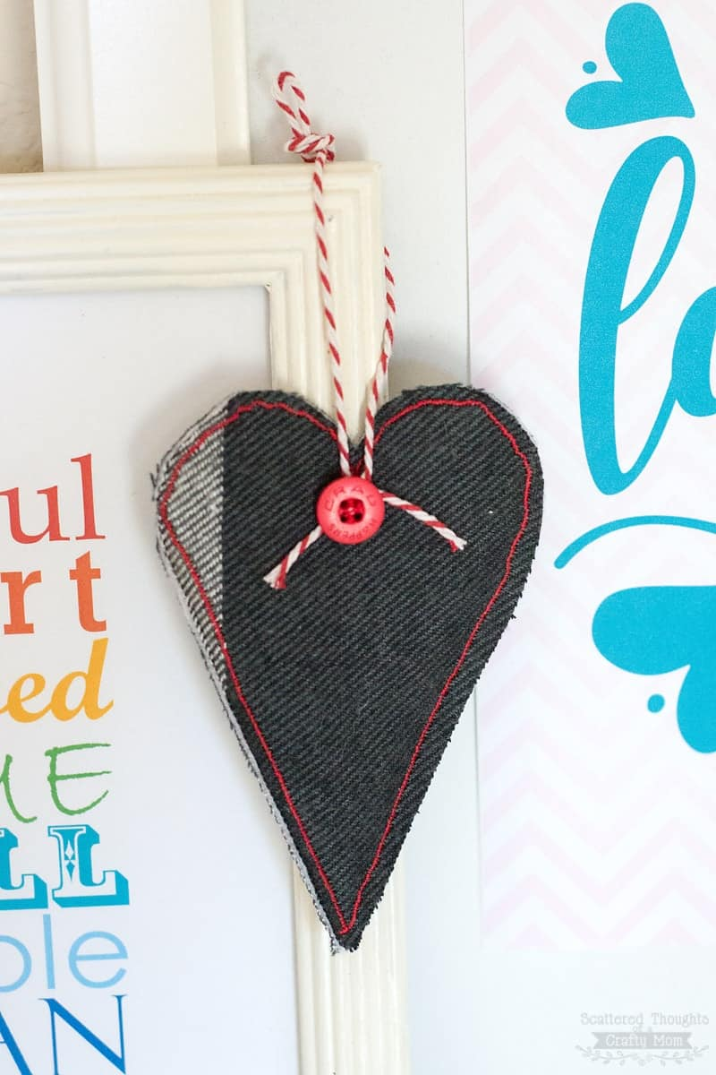 heart gift topper