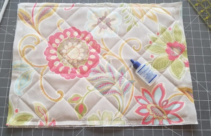 how to make a quilted placemat
