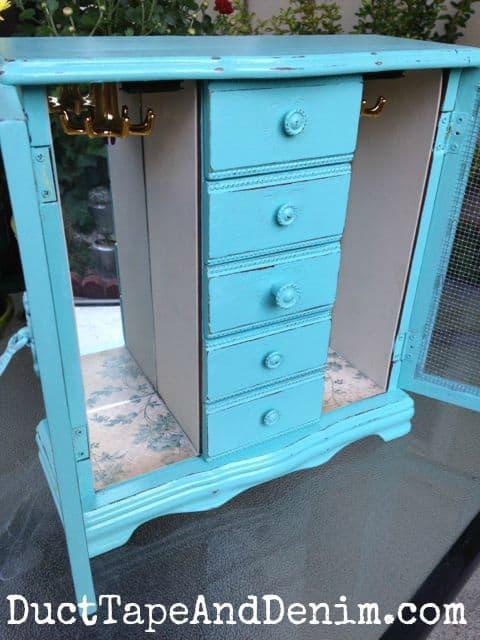 Blue Cabinet Makeover
