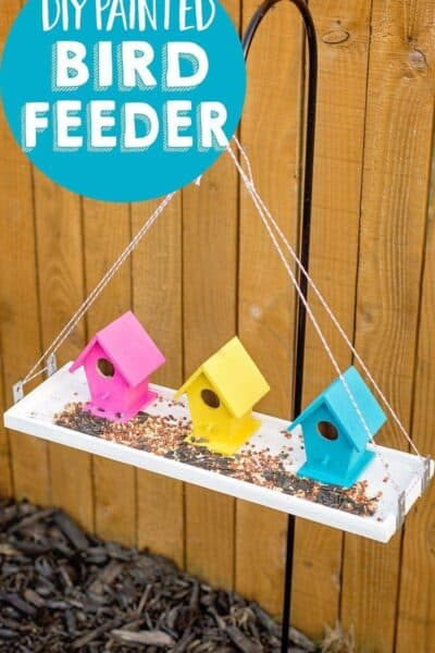 Make an Easy DIY Bird Feeder with Clear Gorilla Glue® (no tools needed +enter to win $250 Gift Card!)