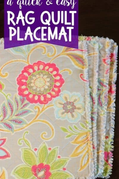 How to Make a Rag Quilt Placemat