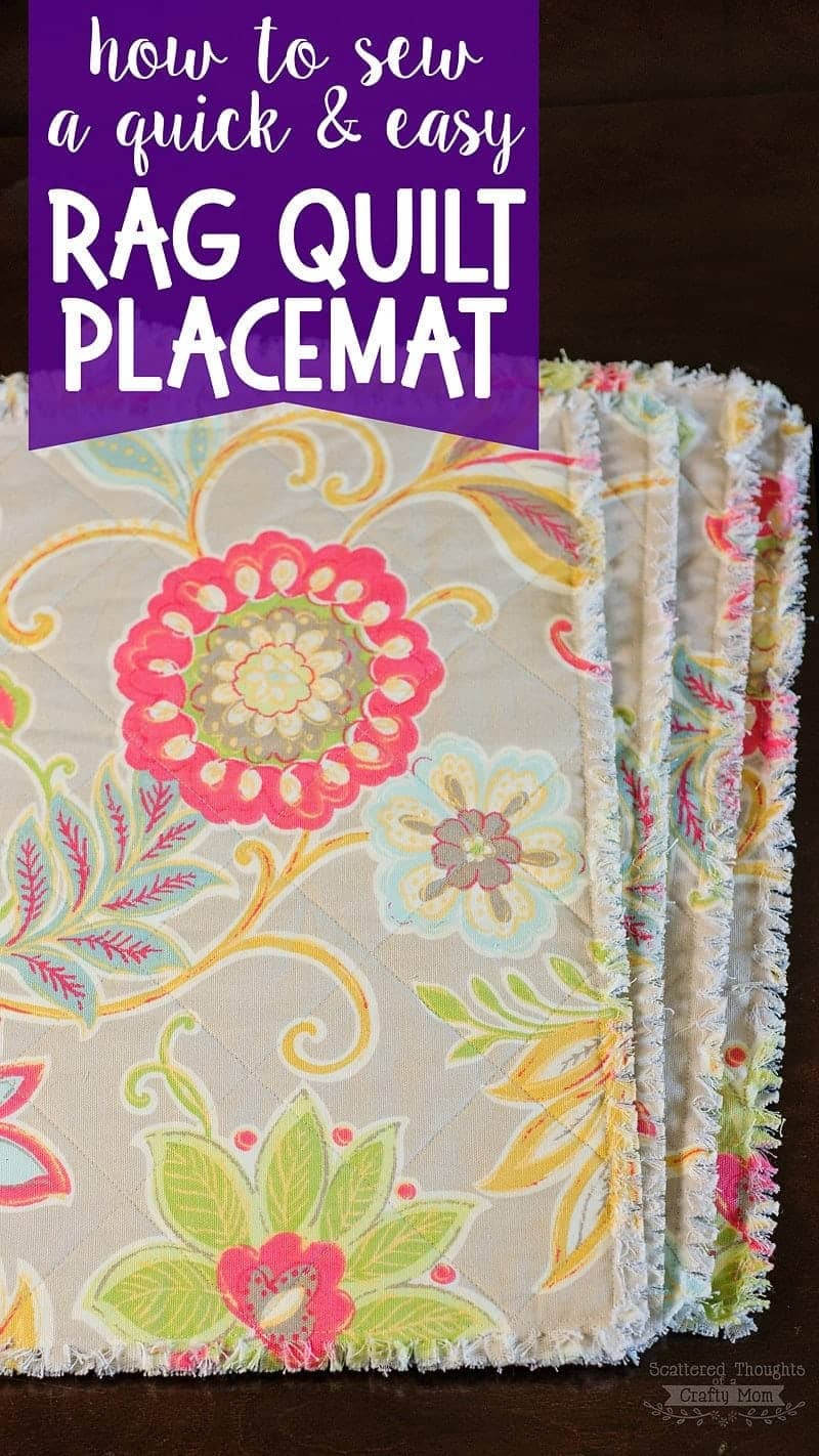 How to make placemats with fabric.