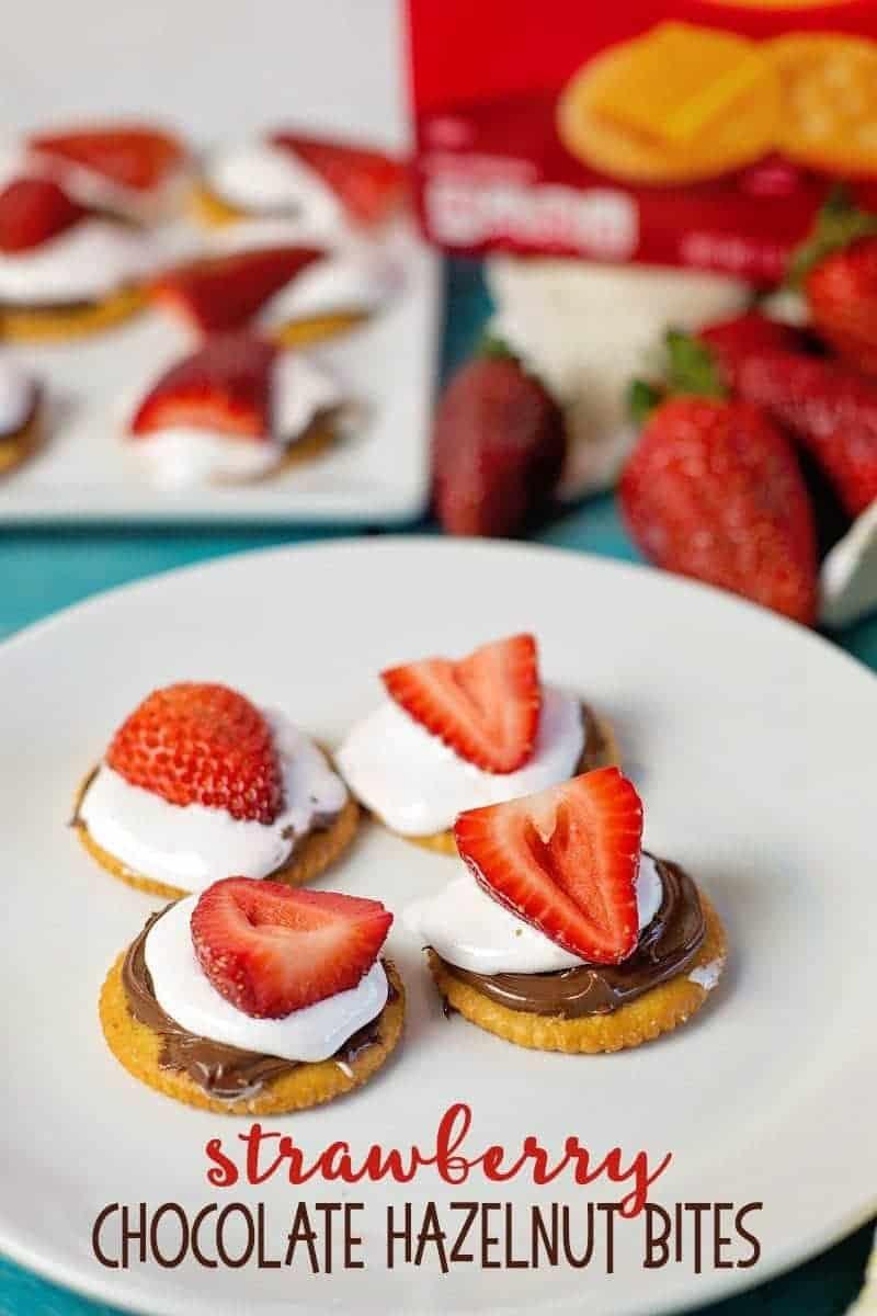 Strawberry Chocolate Hazelnut Bites