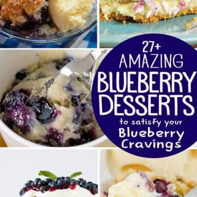 27+ Blueberry Desserts that will Satisfy your Blueberry Cravings