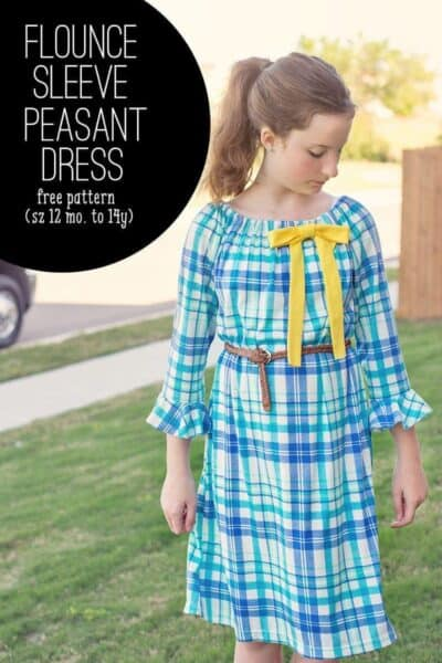 Learn how to make a flounce sleeve pattern to add to any top or dress (Flounce sleeve peasant dress- how to add a flounce sleeve to any pattern.)