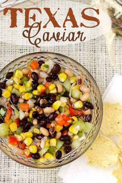 Texas Caviar Recipe (Black Bean and Corn Salsa Dip)