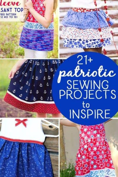 21 Fabulous Patriotic Sewing Ideas to Inspire! (red, white and blue sewing projects)