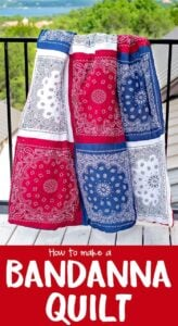 Red White and Blue Bandana Quilt Tutorial