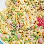 Summer Picnic Pasta Salad ( Pasta salad with ham and cheese )