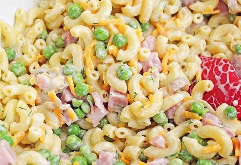 Summer Picnic Pasta Salad ( Pasta salad with ham and cheese )