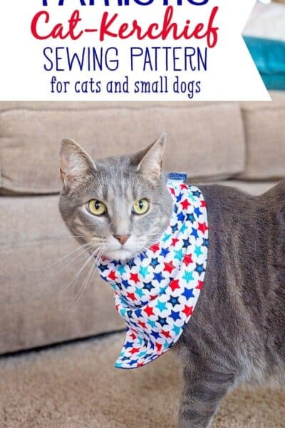 Sew Your Cat (or small dog) a Patriotic Cat-Kerchief for the 4th of July!