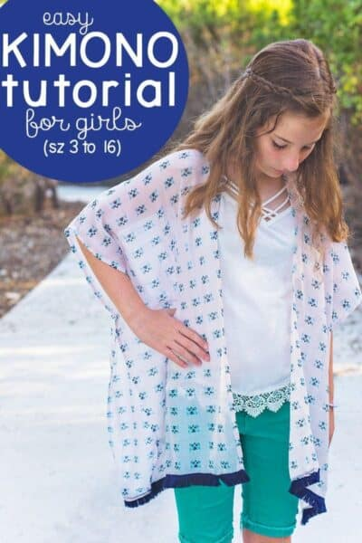 Girl's Kimono Tutorial (How to sew a Kimono in girl's sizes 3 to 16)