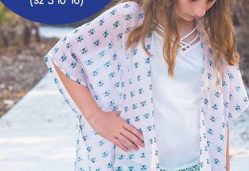 Girl's Kimono Tutorial (How to sew a Kimono in girl's sizes 3 to 16)