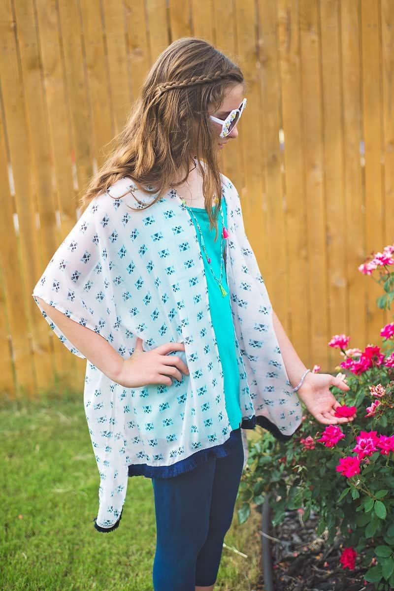 DIY Kimono tutorial for tweens (how to sew a kimono)