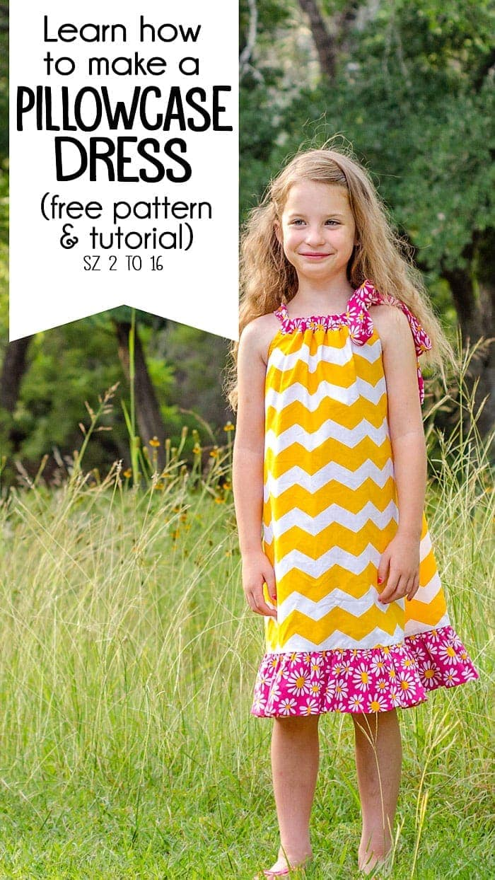 how to make a pillowcase dress - free pillowcase dress pattern
