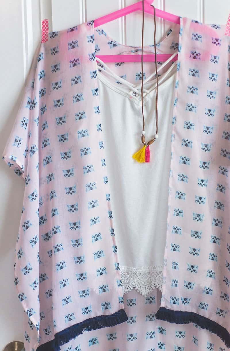 Girls Kimono Tutorial (how to sew a Kimono topper)