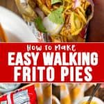 Easy Walking Frito Pies