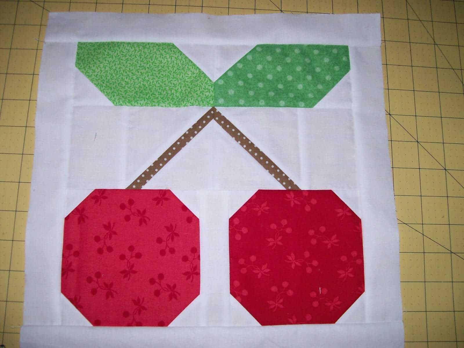 cherry quilt block