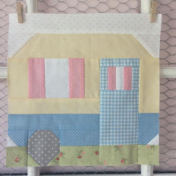 camper quilt block