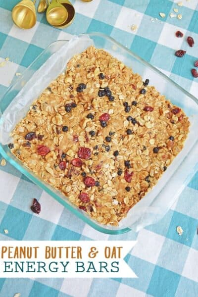 Peanut Butter and Oatmeal Energy Bars