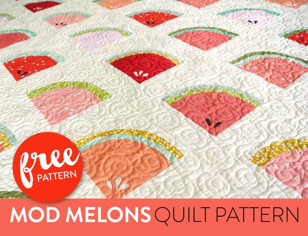 watermelon quilt block