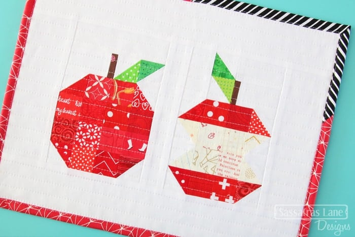 apple quilt block