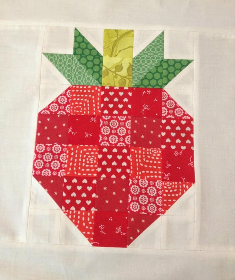 strawberry quilt block